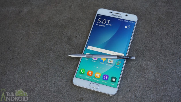 samsung_galaxy_note_5_white_front_s_pen_out_screen_on_TA
